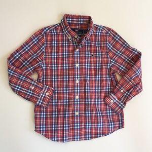Vineyard Vines Red & Blue Plaid Button Down Shirt